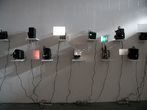 Susan                                               Graham super 8 film                                               installation