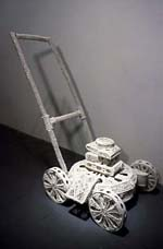 susan                                                       graham porcelain                                                       lawnmower                                                       sculpture