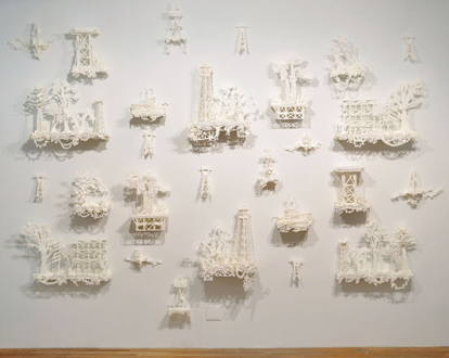 Susan                                               Graham sugar sculpture                                               installation